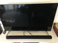 Panasonic 48 Inch 4K 3D TV with Sound Bar, Subwoofer, Blu-Ray Player and TV Stand