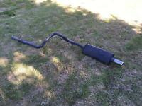 """Mk4 golf Sportex racetube and backbox with 3"""" rolled tip"""