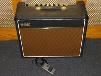 1970s Vox Escort 30 combo with footswitch for the Fuzz.