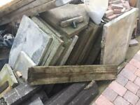 Up to 100 old paving slabs / Hardfill free to anyone who can collect.