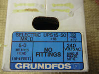 CENTRAL HEATING PUMP - GRUNFOS SELECTRIC CH PUMP MK2 UPS 15-50 – NEW NEVER USED