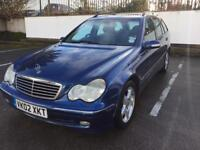 2002 MERCEDES C240 AVANTGARDE AUTOMATIC PETROL ESTATE, NEW MOT JANUARY 2019, READY TO GO