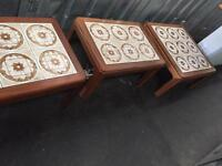 Retro solid teak coffee+side tables UP CYCLE!!!