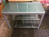 Glass tv stand / desk