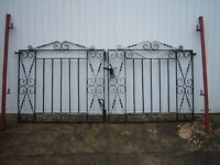 wrought gates good condition