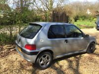 Peugot 106 Quicksilver 2003 sold whole for parts with demonstratable working engine.