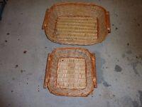 two very nice wicker baskets