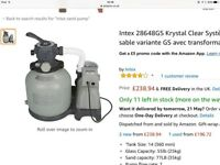 SAND FILTER AND FREE 18 foot swimming pool with ladder