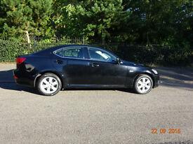 £4000 black Lexus IS 220d 2.2L TD 4 door, Full service history, 88800 mileage, MOT expires 03/17