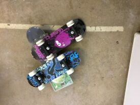 "3 ""No Fear"" Junior Skateboards"