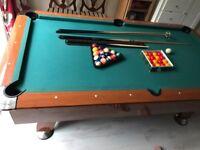 7 ft Slate bed American Pool Table