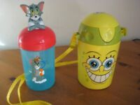 2 CHILDS DRINKING FLASKS/CUPS