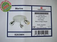 3 spot ceiling light with led bulbs brand new.