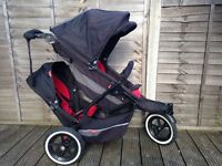 Phil and Teds explorer double buggy in very good condition
