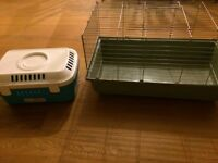 guinea pig cage and guinea pig travel cage- very good condition