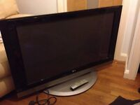 LG 42 PC1D Plasma TV, Spares or Repair. Free to collector.