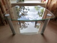 Lovley clear glass Television and Media stand - excellent condition
