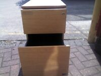 Wooden Office Drawer - 2 Draws - Heavy Solid Sturdy Piece