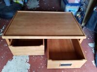 Solid wood play table with large drawers