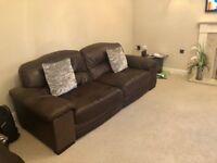 Beautiful soft hyde leather 3 seater sofa
