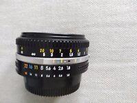 Nikon nikkor 50mm 1:8 prime lens