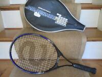 Slazenger Blue & Black Tennis Racket & Zip Case