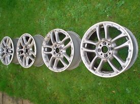 GENUINE OEM FIAT 500 BY DIESEL 16 INCH SET OF 4 SPARE ALLOY WHEELS MONTROSE