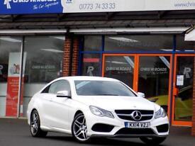 MERCEDES-BENZ E CLASS E220 CDi AMG SPORT 2dr (170) *Stunning Looking Car* (white) 2014
