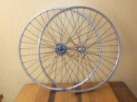 "Vintage Weinmann aluminium wheel set 27"" x 1 1/4"""