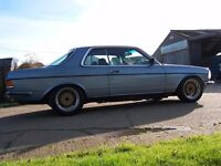 mercedes w123 230ce pillarless coupe for restoration