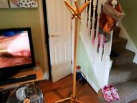 Vintage Retro Style Country Cottage Style Pine Unusual Coat Stand Hat Stand