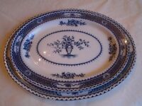Set of two large meat plates, one soup terrine and matching plate (Warwick Royal Semi-Porcelain)