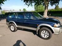 Mitsubishi Shogun Sports 2002 diesel long MOT full service history fully loaded long MOT
