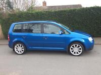 "2005 Volkswagen Touran s tdi blue 18"" alloys nice family car 7 seater"