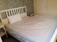 Super King size double bed from IKEA, one mattress, one memory foam mattress all for 250