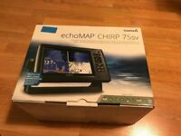 NEW Garmin echomap 75sv chirp chart plotter fishfinder preloaded uk ireland Netherlands maps