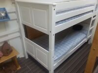 NEW OFFER: 3ft Single Corona style bunk bed, White finish, AND 2 Comfort mattresses - all just £239!