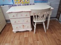 Chartley desk, chair and mirror for sale