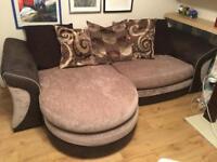 DFS 4 seater fabric sofa