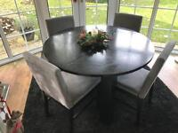 Black Circular Dining Table (Table Only)