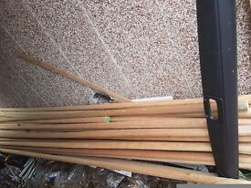 Mahogany handrails. Job lot