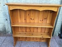Pine real wood varnished shelving unit for any room