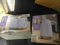Lilac Kettle and Toaster - Designer Swan, Fearne Cotton