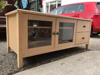 TV cabinet (130cm by 55cm) and matching bedside table (60cm x 48cm)