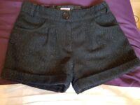 Girls glitter black shorts 6 - 7years