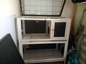 Large indoor guinea pig cage.