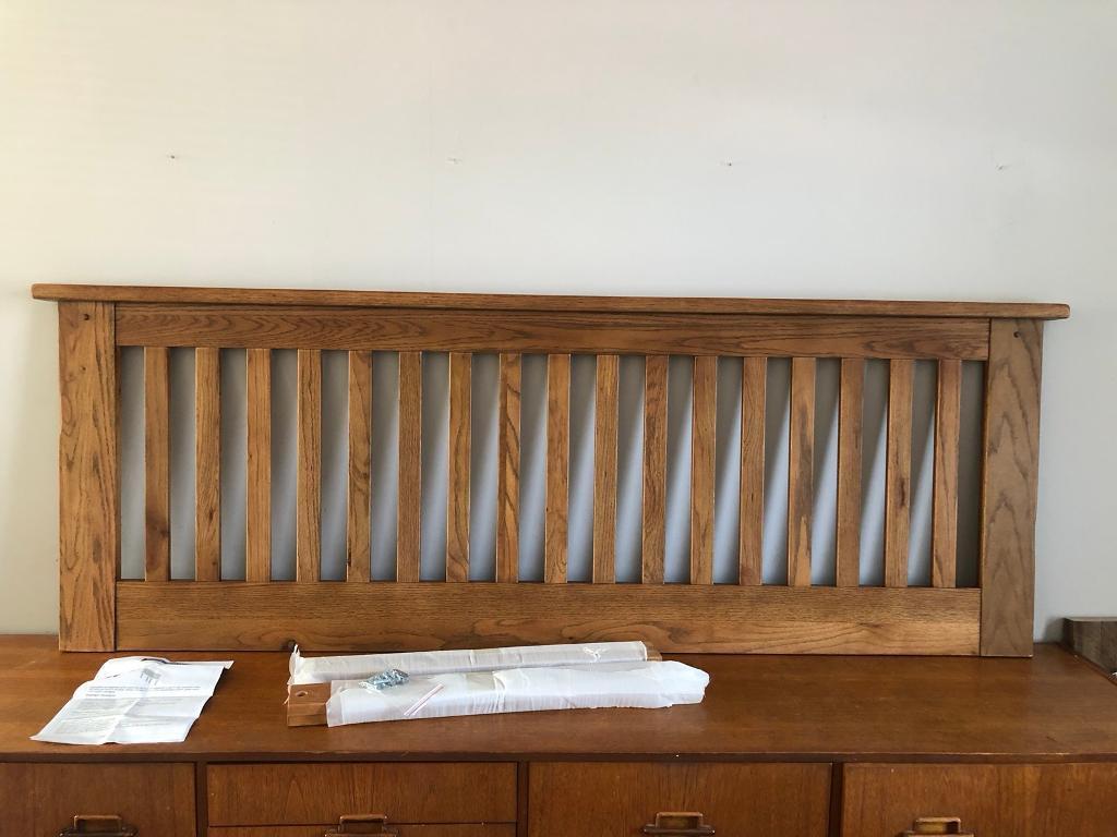 Solid Oak Wood Headboard King Size