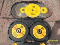 a container of 9 inch grinding and cutting discs