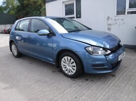 2014 VW Golf 1.4 S TSI Bluemotion *** damaged repairable *** only 22,915 miles ***