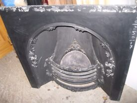 Cast Iron Fire Insert For Sale! Lovely Piece For The Living Room This Christmas!!